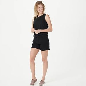 Jen7 by 7 For All Mankind Mid Roll-Up Shorts